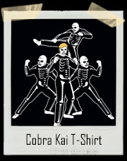 Cobra Kai Karate Kid Inspired Skeleton T-Shirt