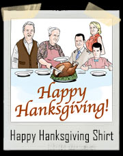 Happy Hanksgiving Tom Hanks Inspired T-Shirt