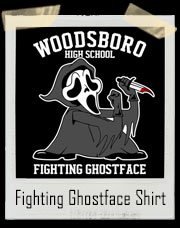 Woodsboro High School Fighting Ghostface Scream Inspired T-Shirt