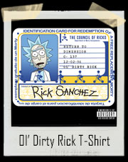 Ol' Dirty Rick Old Dirty Bastard Return to the 36th Chamber Inspired T-Shirt