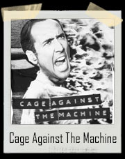 Cage Against The Machine With Nicolas Cage / Rage Against The Machine Inspired T-Shirt