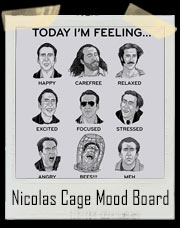 Nicolas Cage Mood Board T-Shirt