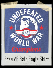 Undefeated World War America Ringer T-Shirt