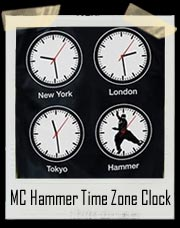 MC Hammer Time Zone Clocks T Shirt