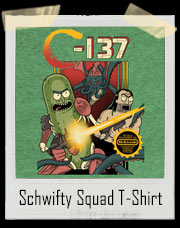Schwifty Squad Pickle Rick C-137 Contra Inspired T-Shirt