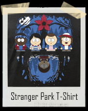 South Park and Stranger Things Inspired Parody Mash Up T-Shirt