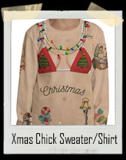 Sexy Tattoo Christmas Chick Sweater / T-Shirt