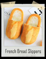 Warm French Bread Loaf Slippers