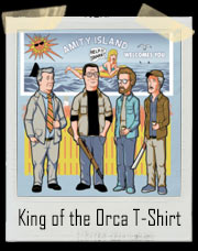 King Of The Orca King Of The Hill and Jaws Parody T-Shirt