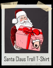 Santa Claus Circle Game Troll T-Shirt
