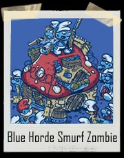 Blue Horde Smurf Zombie T-Shirt