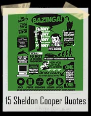 15 Sheldon Cooper Quotes On One Shirt