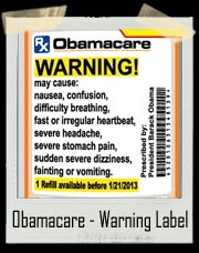 Obamacare - Pill Bottle Warning Label T-Shirt