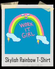 Skylish Rainbow In Lightning Heels T-Shirt