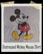 Classic Distressed Mickey Mouse Shirt