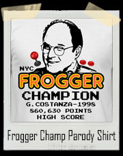 George The Frogger Champion 1998 Parody T-Shirt