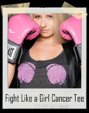 Fight Like a Girl Cancer Pink Boxing Gloves T-Shirt