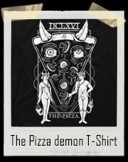 The Pizza Demon Tarot Card T-Shirt