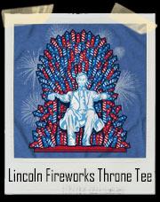 Lincoln Fireworks Throne T-Shirt