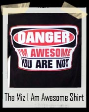 The Miz Onslaught of Awesomeness Augmented Reality DANGER - I am Awesome, and you are not