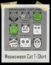 Meowoween Cat Costumes T-Shirt