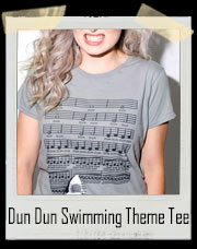 Dun Dun Shark Movie Swimming Theme T-Shirt