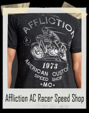 Affliction American Custom Racer Speed Shop Bkbo Shirt