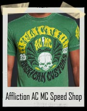 Affliction AC MC Speed Shop Shirt - Affliction 1973 American Customs Speed Shop Motorcycle Club