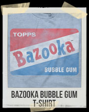 Bazooka Bubble Gum T-Shirt - Blue