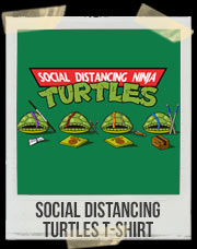 Social Distancing Turtles T-Shirt