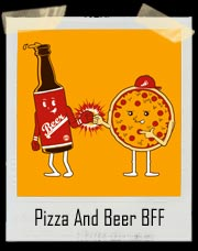 Beer And Pizza Fist Bump BFF T Shirt
