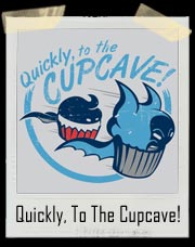 Quickly, To The Cupcave! Batman and Robin Cupcake T-Shirt