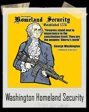 Original Homeland Security Georege Washington T Shirt
