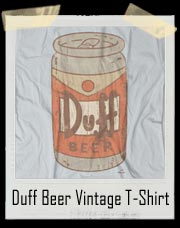 Simpsons Duff Beer Vintage T Shirt