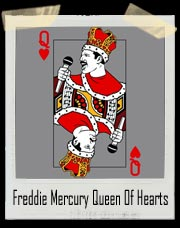 Freddie Mercury Queen Of Hearts T-Shirt