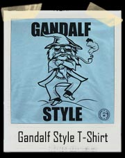 Gandalf Style Wizard T-Shirt