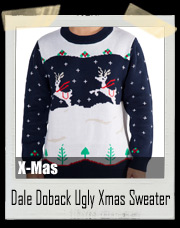 Step Brothers Dale Doback Ugly Christmas Sweater