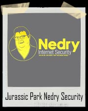 Jurassic Park Nedry Internet Security T-Shirt