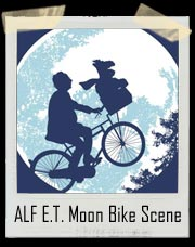 ALF And Willie E.T. Moon Bike Scene T-Shirt
