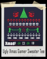 Ugly Nintendo Christmas Gamer Sweater T-Shirt
