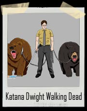 Katana Dwight Office Walking Dead Mash Up!