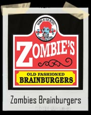 Zombies Brainburgers Wendy's T-Shirt