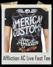 Affliction AC Quality Motors Live Fast Tee