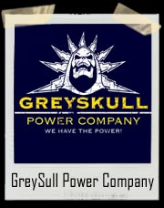 GreySull Power Company Funny He-Man T-shirt