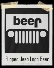 Flipped Jeep Logo Beer T-Shirt