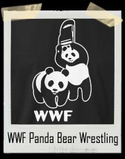 WWF Panda Bear Wrestling Steel Chair T-Shirt