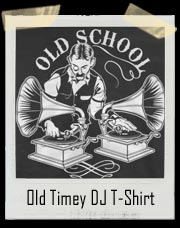 Old School Old Timey DJ Phonograph Record Player T-Shirt