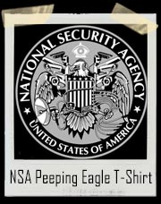 NSA - National Security Agency Peeping Eagle T-Shirt