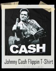 Johnny Cash Flippin The Bird T-Shirt