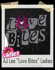"AJ Lee ""Love Bites"" Women's WWE Baby Doll Tee"
